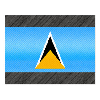 Bandera santalucense pelada moderna tarjeta postal