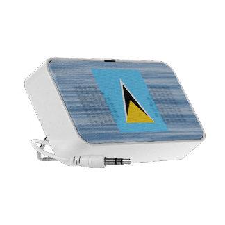 Bandera santalucense que flota en el agua portátil altavoces