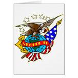 Bandera Semper Fi de Eagle del tatuaje del viejo e Tarjetón