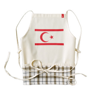 Bandera septentrional de Chipre Delantal Zazzle HEART