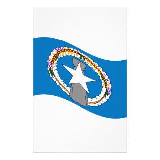 Bandera septentrional de las Mariana que agita Papeleria