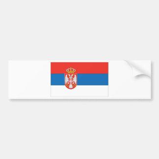 Bandera servia pegatina para auto