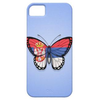 Bandera servia de la mariposa en azul iPhone 5 fundas