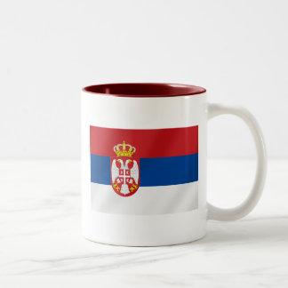 Bandera servia de Serbia - muestre apagado para Sr Taza