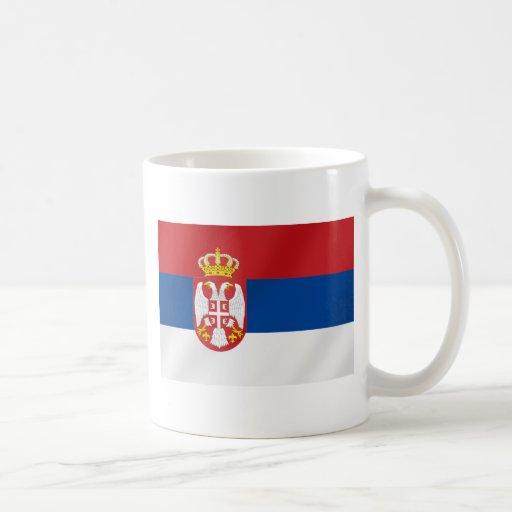 Bandera servia de Serbia - muestre apagado para Taza Clásica