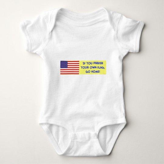 bandera si usted prefiere sus los propios vamos a body para bebé