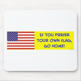 bandera si usted prefiere sus los propios vamos a  tapete de raton