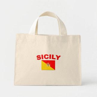Bandera siciliana 1 bolsa tela pequeña