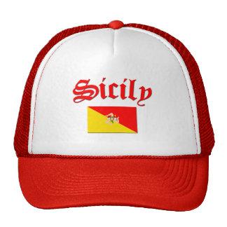 Bandera siciliana 2 gorras