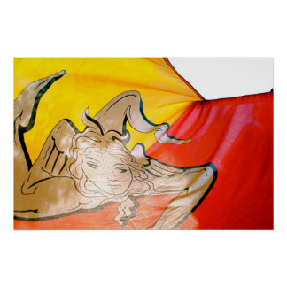 Bandera siciliana poster