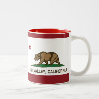 Bandera Simi Valley del estado de California Taza De Dos Tonos