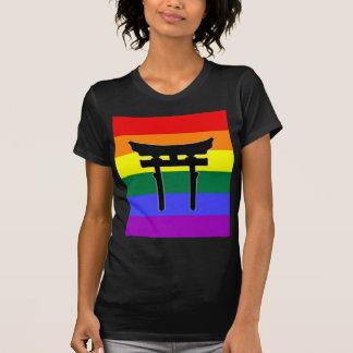 Bandera sintoísta del orgullo gay playera