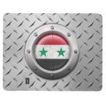 Bandera siria industrial con el gráfico de acero cuadernos grapados