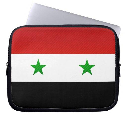 Bandera siria pelada moderna funda ordendadores
