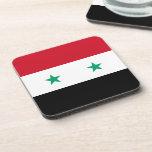 Bandera siria posavasos de bebida