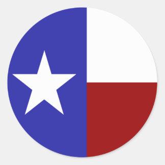 Bandera solitaria de la estrella etiquetas redondas