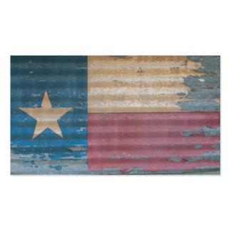 Bandera solitaria vieja rústica de la estrella de tarjetas de visita