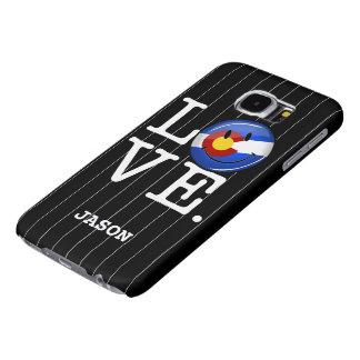 Bandera sonriente de Colorado del amor Fundas Samsung Galaxy S6