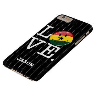 Bandera sonriente de Ghana Ghanian del amor Funda De iPhone 6 Plus Barely There