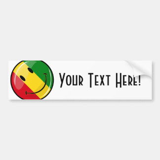 Bandera sonriente de Guinea Pegatina Para Auto