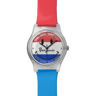 Bandera sonriente de Holanda Países Bajos Relojes