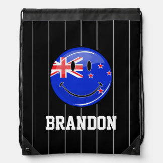 Bandera sonriente de Nueva Zelanda Mochila