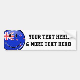 Bandera sonriente de Nueva Zelanda Pegatina Para Auto