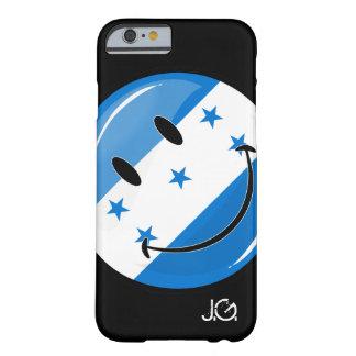 Bandera sonriente redonda brillante del Honduran Funda De iPhone 6 Barely There