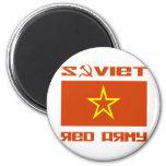 Bandera soviética de la estrella del ejército rojo imán de frigorifico