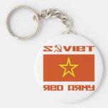 Bandera soviética de la estrella del ejército rojo llavero personalizado