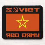 Bandera soviética de la estrella del ejército rojo alfombrillas de ratón
