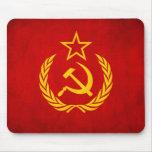 Bandera soviética Mousepad Tapetes De Ratón
