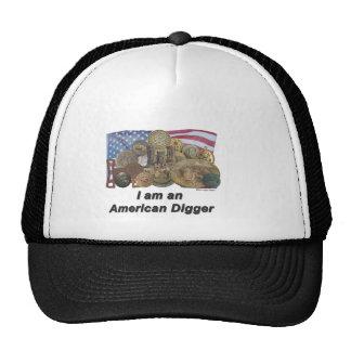 Bandera soy cavador americano gorro