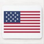 Bandera Spangled estrella con 15 estrellas Tapetes De Raton