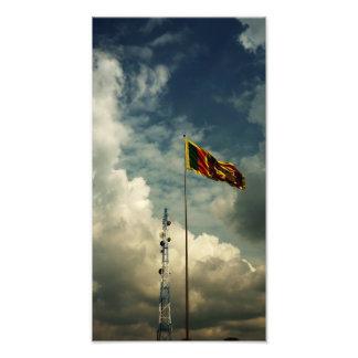 Bandera srilanquesa fotografías