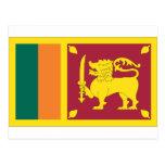 Bandera srilanquesa tarjeta postal