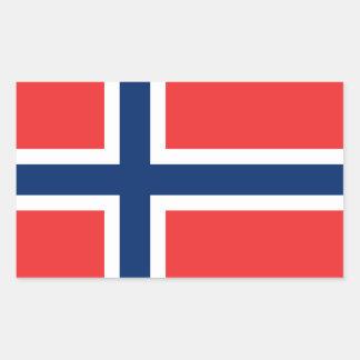 Bandera Stickers* de Noruega Pegatina Rectangular