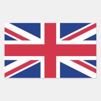 Bandera Stickers* de Reino Unido Pegatina Rectangular