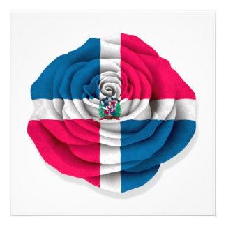 Bandera subió de la República Dominicana en blanco Invitacion Personalizada