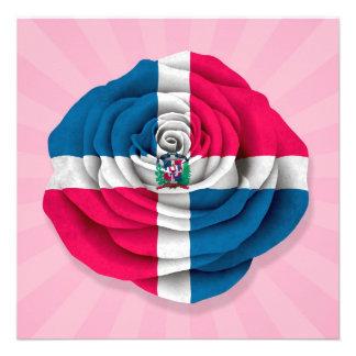 Bandera subió de la República Dominicana en rosa Anuncios Personalizados