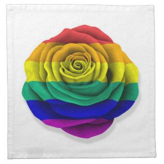 Bandera subió del orgullo gay del arco iris en bla servilletas
