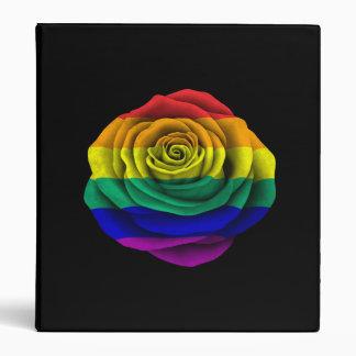 Bandera subió del orgullo gay del arco iris en neg