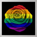 Bandera subió del orgullo gay del arco iris en neg poster