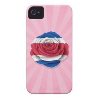 Bandera subió Rican de la costa en rosa Case-Mate iPhone 4 Funda