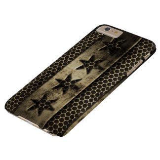Bandera sucia de Chicago del metal Funda Para iPhone 6 Plus Barely There