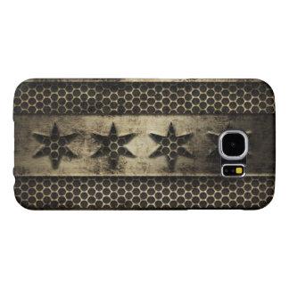 Bandera sucia de Chicago del metal Fundas Samsung Galaxy S6