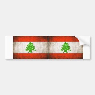 Bandera sucia de DOS Líbano Pegatina Para Auto