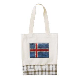 Bandera sucia de Islandia Bolsa Tote Zazzle HEART