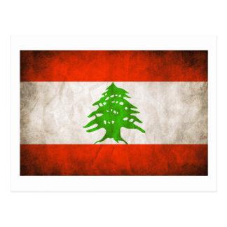 Bandera sucia de Líbano Postal