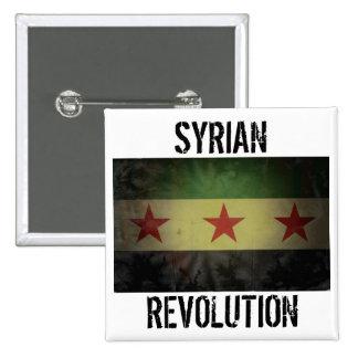 """Bandera sucia de Siria de la """"revolución siria"""" Pin Cuadrado"""